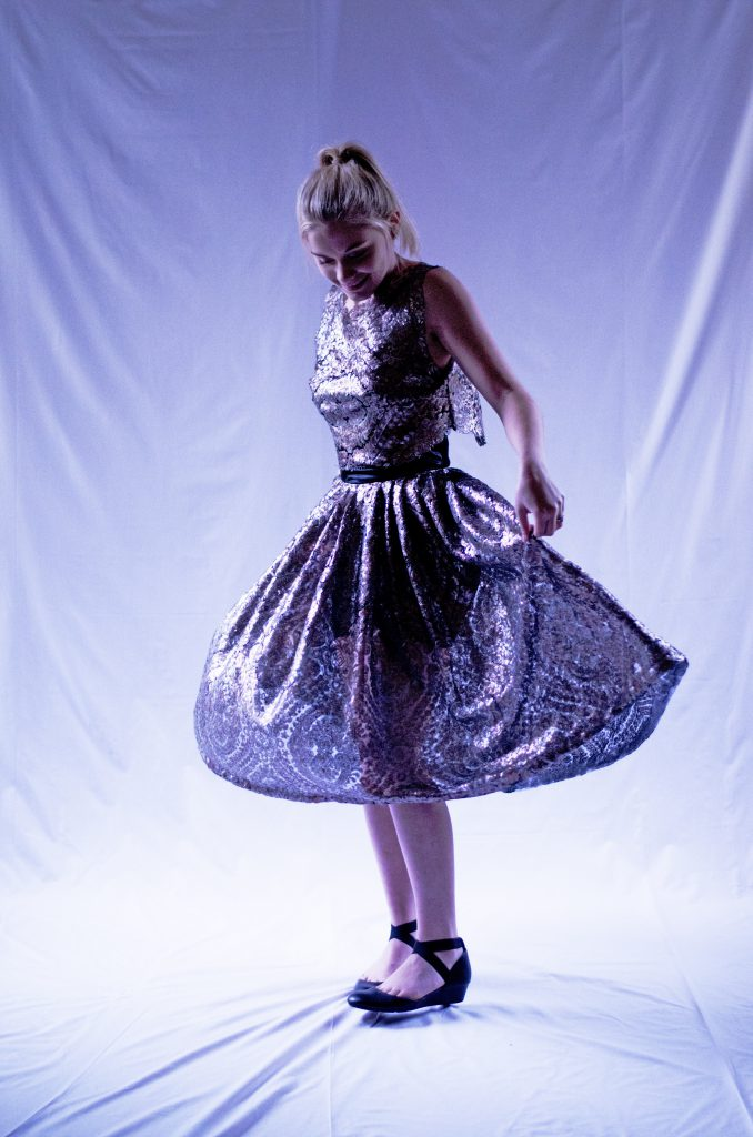 Semi-sheer skirt with shorts lining