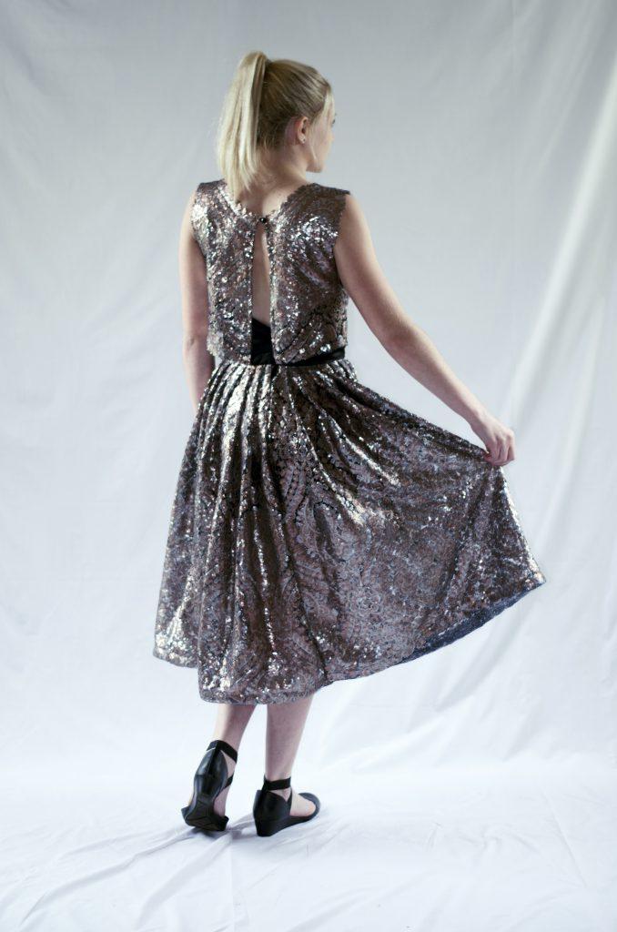 Semi-sheer Skirt with Shorts Lining